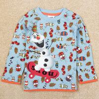 2014 New Children Long Sleeve T-Shirts Print Children Clothing Boy's Autumn Shirts Long T-Shirt Fashion Children Clothing