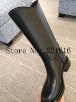 PLUS SIZE Winter Women's Brand Genuine Leather  Boots Ladies Fashion Black Brown Knight Long Boots Sexy High Boots