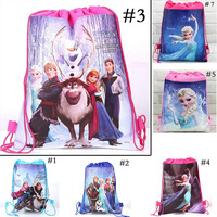2014 New Frozen Anna Elsa School Bags  Frozen Drawstring Bags Children's School Bags kids' Shopping Bags Gift for Kids