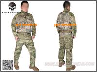 EMERSON A-TACS FG Uniform Riot Style Camo Tactical Uniform Set Teflon Coated+Free shipping(SKU12050396)