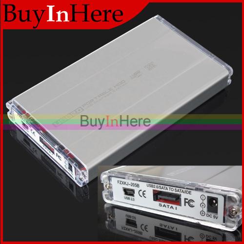 "USB 2.0 HDD 2.5"" INCH HD HARD DISK DRIVE CASE Enclosure External Sata Storage ENCLOSURES Compatible Box with USB 2.0 Cable(China (Mainland))"