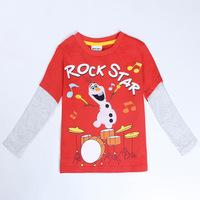 2014 New Children T-Shirts O-Neck Long Sleeve Frozen Children Tshirts Frozen Clothing Boy's Autumn Shirts Long T-Shirt Fashion