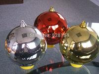 Top Quality Christmas decoration 20cm six color smooth christmas ball Christmas ball for window/store