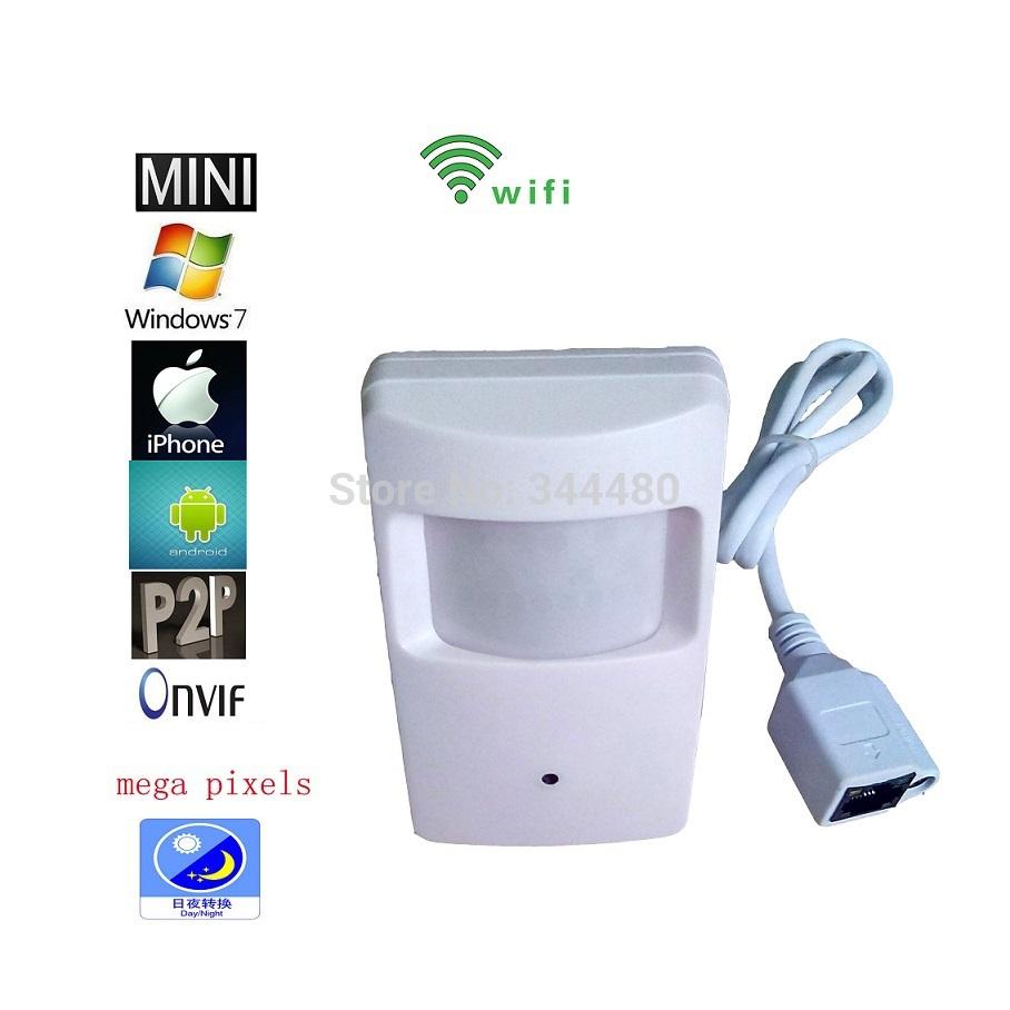 P2P Cloud HD H.264 720P 1 MegaPixel Wireless WiFi IP Hidden Covert Camera Pinhole Lens 3.6mm Motion Detection(China (Mainland))