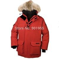Rapid transit 2014 new men's Expedition Parka big fur Down Parkas outerwear Coats High quality winter jacket