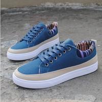 Free shipping autumn breathable men's casual canvas shoes, men's shoes Korean fashion sport shoes men low shoes