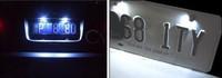 top selling !!!New 2Pcs 12V Waterproof White Bolt-On LED License Plate Lights For Car Motorcycle Bike Black b24 10725