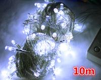 free shipping 10M  100 LED Colored lights / Christmas tree decorative light string lights / holiday decoration lights 220g DIY
