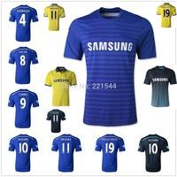 best thai quality 14/15 Chelsea home blue away soccer jersey FABREGAS TORRES DROGBA HAZARD DIEGO COSTA football uniform