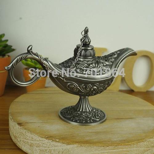 Big Size Antique Arts Craft Aladdin Lamp Vintage Home Decor Arabian Nights Story Table Display(China (Mainland))