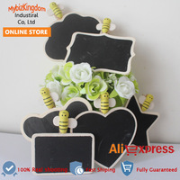 25x FREE SHIPPING WOODEN CHALKBOARD PEG BLACKBOARD FOR WEDDING PARTY TABLE DECOR MINI BAG CLIPS 6 SHAPES FOR YOUR CHOICE