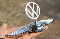 Car eagle wings emblem luxury 3D stereo car eagle wing badge unique design emblem sticker for Volkswagen Lavida Tiguan Polo etc