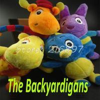 25cm Size The Backyardigans 4pcs/lot Plush Toys Brinquedos Cartoon Baby Toys Kids Gift