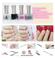 wholesale 2014 new pro G'SANG french china  nail art lacquer polish set with nail salon glaze sweet color nail polish bulk set
