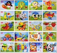 New 20 Designs 3D EVA Puzzle Sticker Kindergarten's DIY Toys 2-4 Handmade Self-adhesive Foam Paste Painting Craft Gift 18x13cm