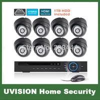high resolution 8CH full 960h CCTV Security Camera System NVR KIT DVR kit HD 800TVL dome Camera Video Surveillance System