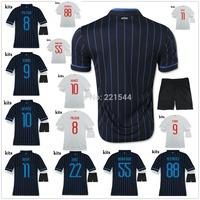 14/15 PALACIO ICARDI KOVACIC home away soccer jersey + Shorts NAGATOMO 2015 best quality football uniforms embroidery logo