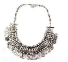 Retro vintage antique jewelry coin necklace tribal egypt gypsy steampunk statement gargantilha maxi colar cigano collier