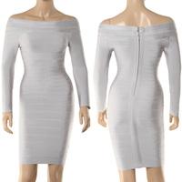 free shipping 2014 brand fashion tight long sleeve bandage dress 115