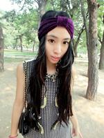 "Free shipping retail high end 4"" girls fashion noble purple wide headband"