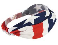 """Free shipping retail high end 4"""" girls fashion geometry flag headband"""