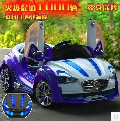 Children's electric cars four-wheel double drive toy car can sit baby baby stroller electric remote control car(China (Mainland))
