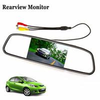 Big Sale!640x480 4.3 Inch Color Digital TFT-LCD Screen Car Rear View Mirror Monitor Car Monitor