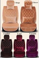 Winter embroidery fabric royal wind female car seat cover four seasons general barrowload seat, 4pcs/set