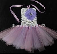 Newest Gift-giving Handmade Girl flower tutu baby cute pettiskirt girls skirt fairy tutu crochet short tulle kids princess skirt