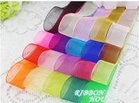 "2cm(6/8"") width transparent decoration chiffon ribbon gift wrapping wholesale"