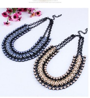 2014 Europe and America top brand women punk statement weaving pendant&necklace