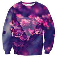EAST KNITTING G12 fashion 2014 Harajuku Hoodies FlowerFloral Print Pollover Ladies Sweatershirts Galaxy hoodies free shipping