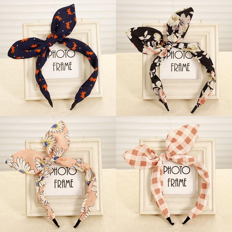2015 New Arrival Fashion Butterfly Bow Flower Hair Garland Lovely Rabbit Ear Headband for Headwear Women Hair Accessories(China (Mainland))