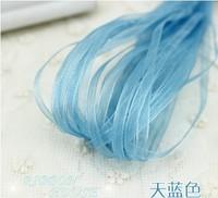 "width 3mm(1/8"") 100 yards semi-transparent chiffon ribbon gift packaging tape wholesale"