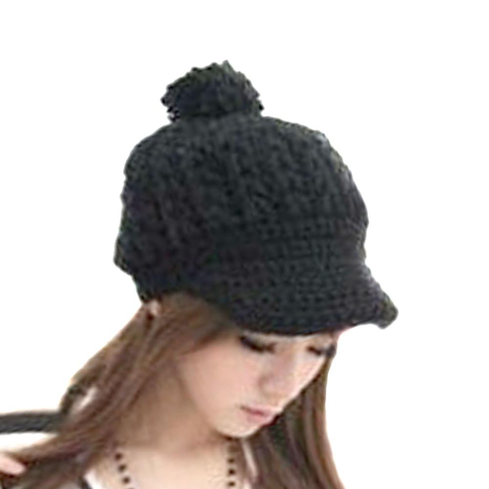 Beanie Hat Crochet Pattern With Brims Crochet Rib Hat Brim Cap