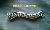 S PIPE 3.5''OD  19.7'' L 500MM CENTERLINE LENGTH DIY INTERCOOLER PIPING