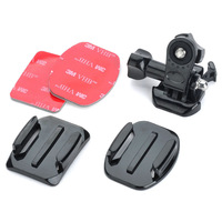 for Sony AS15 AS30 Rollei Basic Accessories Flat Curved Adhesive Tripod Mount Buckle