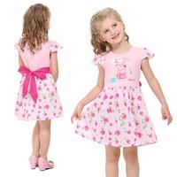 Peppa pig girl dress children clothing Nova peppa party evening tutu dress for kids 100% cotton vestidos dress for girls H4456