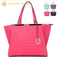 2014 women handbag brand designer high quality genuine leather bag Fashion crocodile women handbags women messenger bags vintage