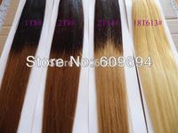 18 20 inch ombre NAIL U TIP HAIR extensions indian remy human 100g=100s 1bT4 1BT6 1BT8 1BT10 1BT12 1BT14 1BT18