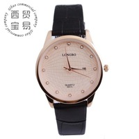 Free shipping mk diamond fashion watches genuine leather for women quartz watches LB8857A-01