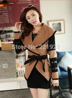 New European and American wind 2014 Victoria personality big cape coat lapels Qiu dong coat