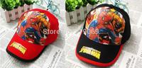 8pcs/lot  Wholesale Kids High quality  New Summer Spiderman Hats Baseball Caps Girls Boy Hats Children Hat Baseball Caps
