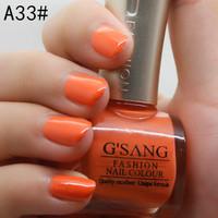 SALE french G'SANG name brand FREE SGP new A33#48PCS nude nail art lacquer sweet orange glaze color bulk nail laquer polish