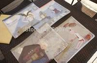 24  Pcs  A4  Kawaii Cartoon MACCHIATO Bunny PVC  File Holder Protector  Document Bag