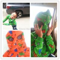 2014 NEW arrive hot Sale fashion children boys Little dinosaur hood shirt jacket zipper sweater Halloween Costume autumn wear