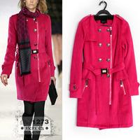 2014 Autumn Winter New Women's Woolen Coat Fashion Casual Wool Jacket Zipper Outerwear Trench Coat Casacos femininos WC0317
