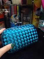 free shipping top quality women 100% silk clutch bags brand design woven bag BSY003