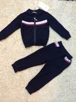 Free  Shipping  Wholesale  Brand  fashion  sprig/autumn  children's  suit  long  sleeve  patchwork  V-Neck  boy's  suit