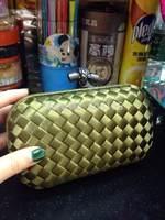 free shipping luxury 100% silk women clutch handbags brand woven evening bag BSY009